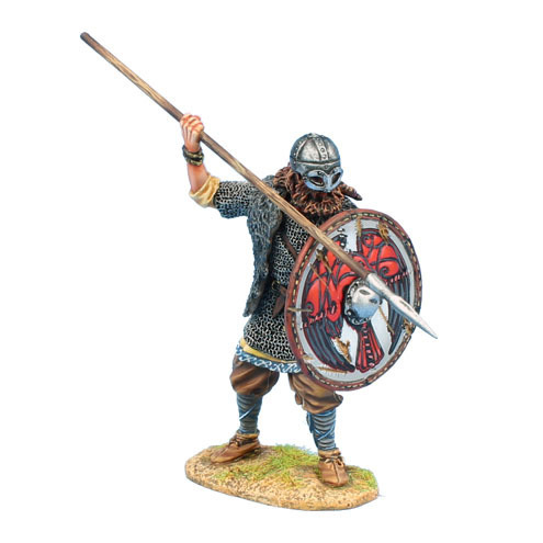 Viking Warrior Shieldwall with Spear