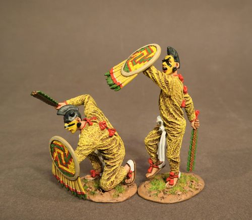 THE AZTEC EMPIRE, CUACHICQUEH WARRIORS, (2pcs)         Retail Us$90