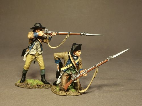 THE BATTLE OF SARATOGA 1777, CONTINENTAL ARMY, THE 2nd NEW YORK REGIMENT, 2 LINE INFANTRY (2pcs)