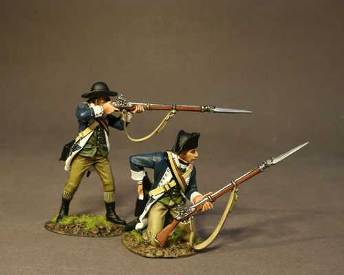 THE BATTLE OF SARATOGA 1777, CONTINENTAL ARMY, THE 2nd MASSACHUSSETTS REGIMENT, 2 LINE INFANTRY (2pc