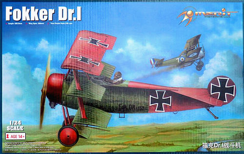 Merit: Fokker Dr.I (kits) in 1:24