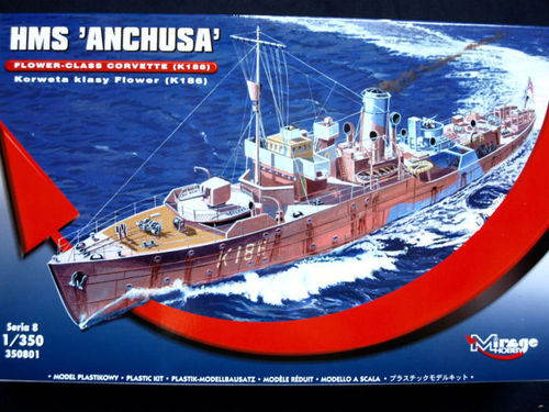 "HMS ""Anchusa"" Flower-Class Corvette K186 in 1:350"