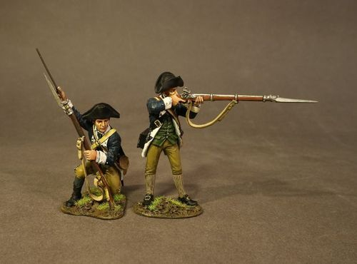 THE BATTLE OF SARATOGA 1777, CONTINENTAL ARMY, THE 2nd MASSACHUSSETTS REGIMENT,2 LINE INFANTRY (2pc)