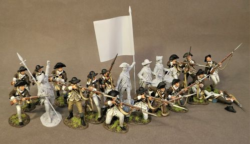 THE BATTLE OF SARATOGA 1777, CONTINENTAL ARMY, THE 1st CANADIAN REGIMENT, 2 LINE INFANTRY (2pcs)