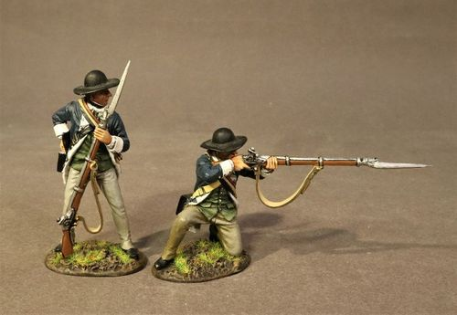 CONTINENTAL ARMY, THE 2nd MASSACHUSSETTS REGIMENT, 2 LINE INFANTRY (2pcs)
