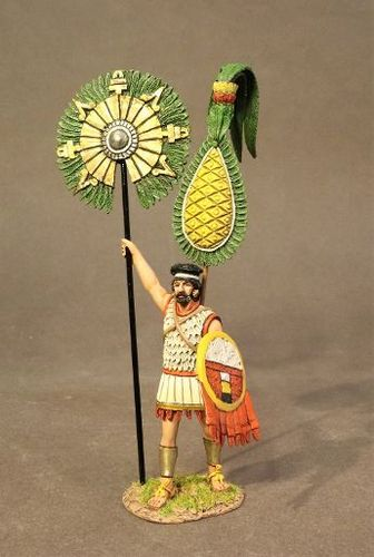 THE CONQUEST OF AMERICA, THE AZTEC EMPIRE, AZTEC GENERAL WITHNATIONAL STANDARD, (2pcs)