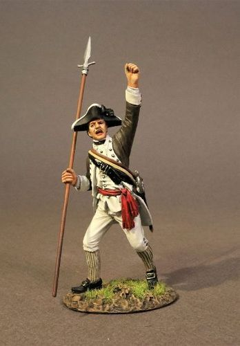 CONTINENTAL ARMY, THE 1st CANADIAN REGIMENT, INFANTRY OFFICER. (1pc)