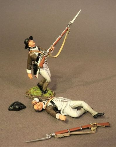 CONTINENTAL ARMY, THE 1st CANADIAN REGIMENT, 2 INFANTRY CASUALTIES. (4pcs)