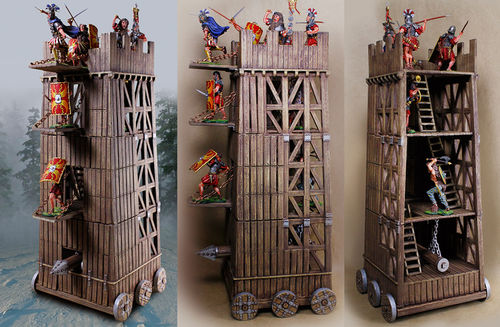 Siege Tower-Ladders,Doors,Battering Ram Incl