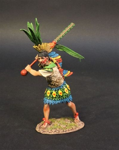 THE AZTEC EMPIRE, AZTEC ALLY CHIEFTAIN WITH CUAUHOLOLLI. (1pc)