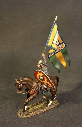 THE AGE OF ARTHUR,  THE NORMAN ARMY, NORMAN KNIGHT WITH PAPAL STANDARD. (3 pcs)