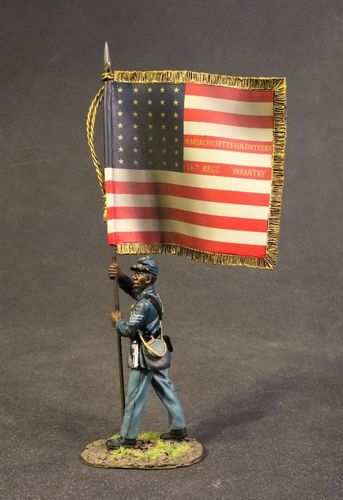 The 54th Regiment Massachusetts Volunteer Infantry. Standard Bearer with National Colours. (1pc)