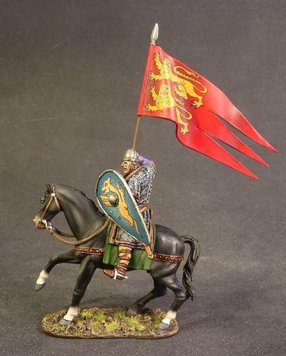 THE NORMAN ARMY, NORMAN KNIGHT WITH NORMANDY BANNER. (3 pcs)